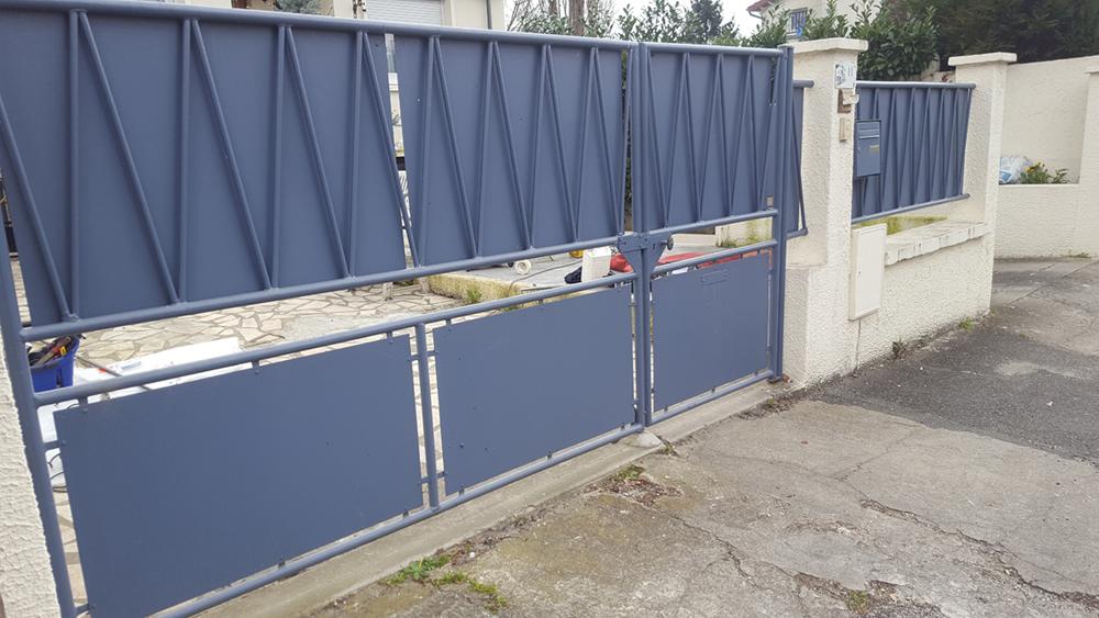 Réparation portail acier